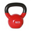 GoFit 15-Pound Red Kettlebell with Vinyl Coating and Iron Core Training DVD